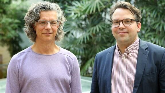Carsten Tesch und Frédéric Bußmann von den Kunstsammlungen Chemnitz