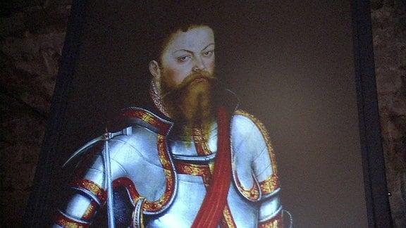 Kurfürst Moritz von Sachsen in der AUsstellung Festung Dresden Xperience