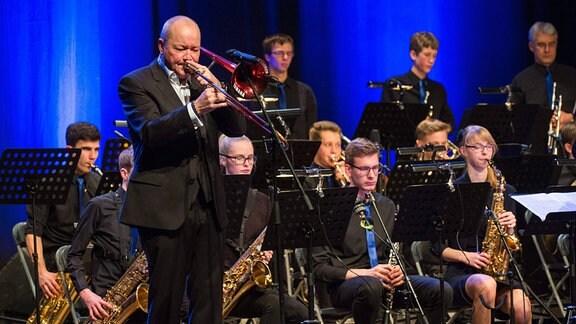 Nils Landgren Uni-Bigband Halle und Junior Jazz Orchestra Dessau