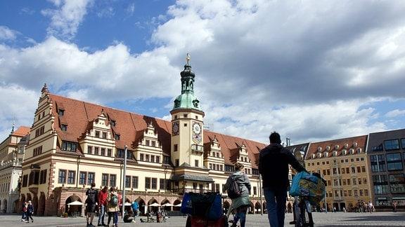 In der Leipziger Innenstadt sieht man kaum mehr Goths als im restlichen Jahr. Auch nicht vor dem Alten Rathaus