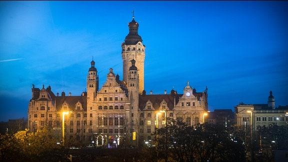 Neues Rathaus in Leipzig am 16.3.2013
