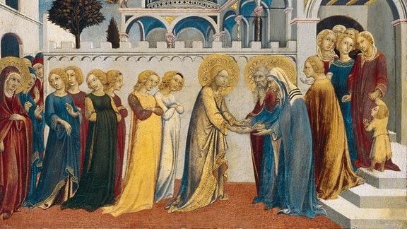Sano di Pietro, Heimkehr Mariens aus dem Tempel