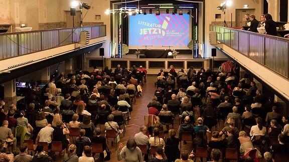 """Publikum beim Literatur-Festival """"Literatur JETZT!"""""""