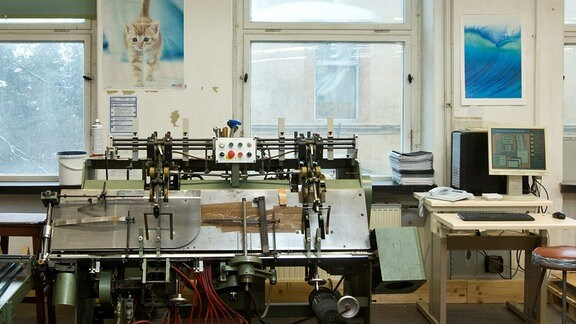 DZA Zwei: Blick in die Druckerei