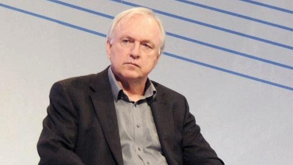 Der Autor Hans-Ulrich Treichel auf der Frankfurter Buchmesse.