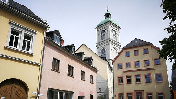 Kirchturm in Lößnitz