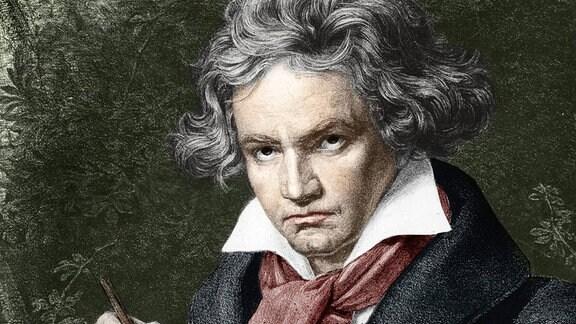 Ludwig van Beethoven in einem Gemälde von Karl Joseph Stieler.