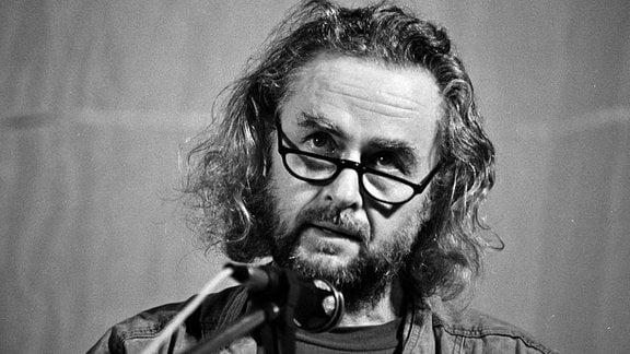 Schriftsteller Ulrich Plenzdorf  (Foto von Oktober 1989)
