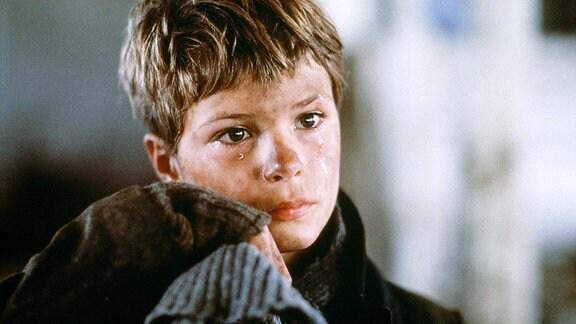 "Szene aus dem Film ""Pelle, der Eroberer"" (Dänemark, Schweden 1987) mit Pelle Hvenegaard als Pelle"