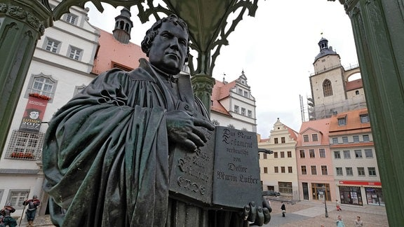 Denkmal des Reformators Martin Luther in Wittenberg