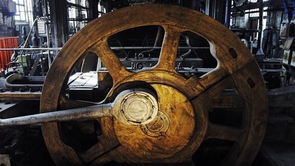 Maschinen in der historischen Brikettfabrik Knappenrode