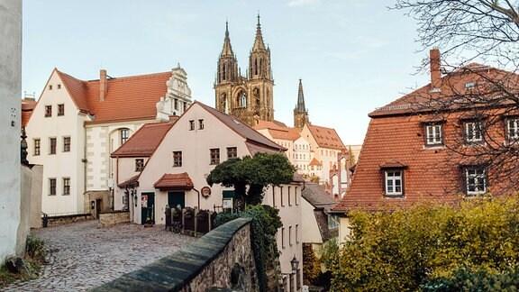 Albrechtsburg und Dom in Meißen an der Elbe.