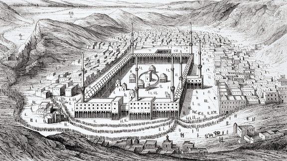 Mekka, historische Zeichnung