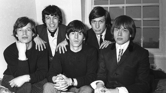 Mick Jagger, Bill Wyman, Keith Richards, Charlie Watts und Brian Jones, 1962