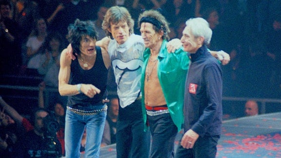 Ron Wood, Mick Jagger, Keith Richards und Charlie Watts, 2007