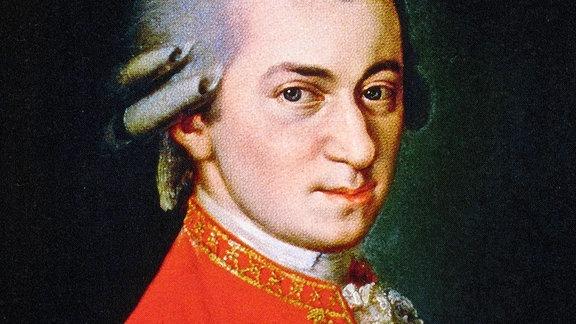Wolfgang Amadeus Mozart im Porträt um 1819