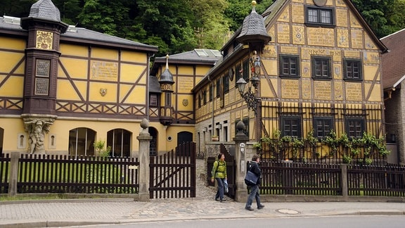 Das Leonhardi-Museum in der Grundstraße im Dresdner Stadtteil Loschwitz.