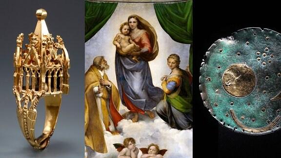 Jüdischer Hochzeitsring/ Sixtinische Madonna/Himmelsscheibe von Nebra