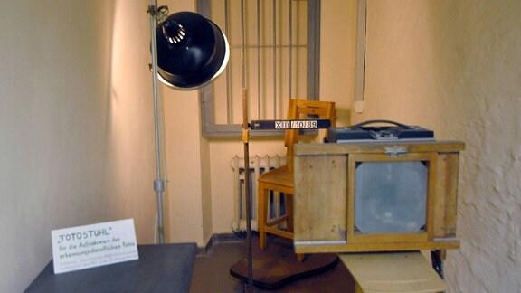 Fotografierzimmer in der ehemaligen Bezirksverwaltung für Staatssicherheit