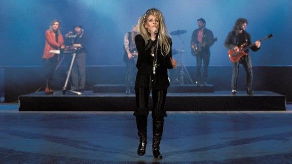 """Tamara Danz während eines Auftritts mit ihrer Band """"Silly""""."""