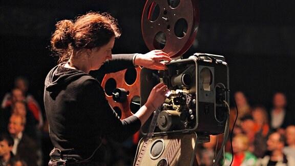 Filmprojektor bei Neiße-Filmfestival 2010