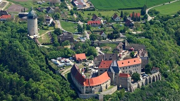 Luftbildaufnahme der Neuenburg in Freyburg an der Unstrut.