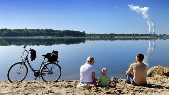 Menschen am Cospudener See