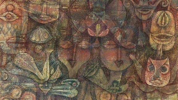 Gemälde Seltsamer Garten von Paul Klee