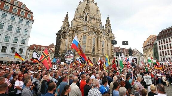 Pegida am 29.08.2016 in Dresden