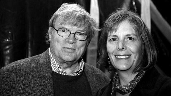Der Dokumentarfilmer D. A. Pennebaker mit seiner Ehefrau Chris Hegedus.