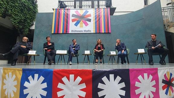 Pressekonferenz der Bühnen Halle am 8. Juli 2021