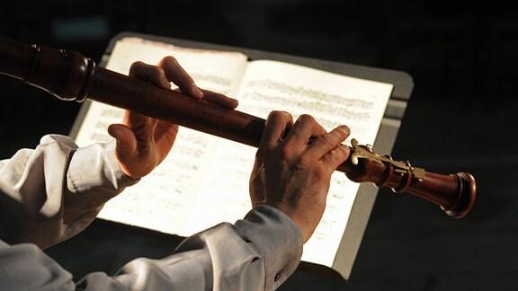 Barockmusik, gespielt auf der Blockflöte