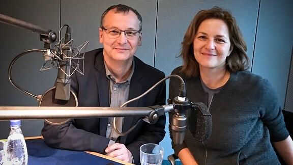 Knut Elstermann und Martina Gedeck
