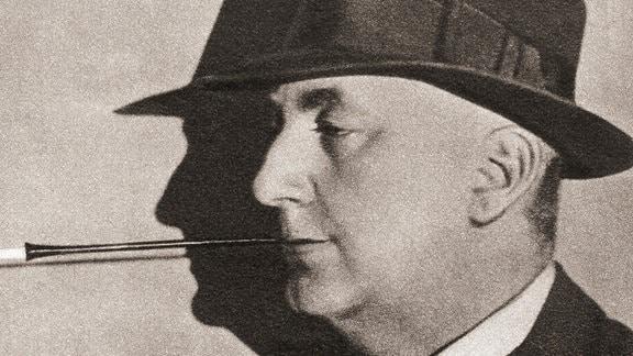Der britische Schriftsteller Richard Horatio Edgar Wallace, 1875-1932