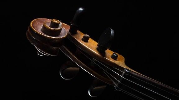 Geige - Hals mit Mechanik