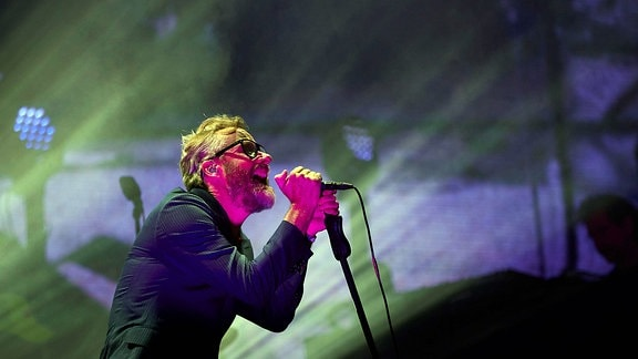Matt Berninger, Sänger der US-Band The National beim Primavera Sound Music Festival 2018 in Barcelona
