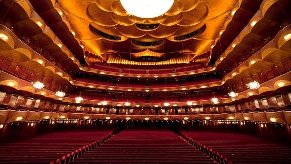 Der Konzertsaal des Metropolitan Opera House in New York (USA), undatierte Aufnahme.