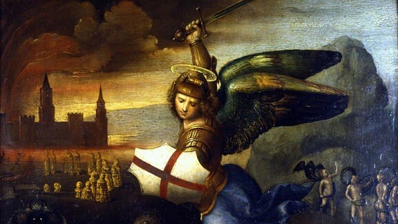 RAPHAEL (1483-1520) Italian artist. St Michael the Archangel.