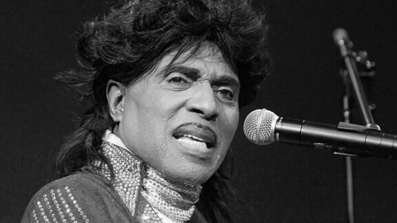 Sänger Little Richard (USA) während eines Konzertes in Vancouver