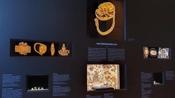 Exponate im Museum