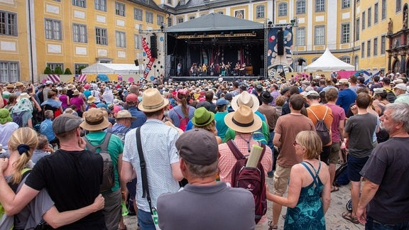 Die Band Sing the Truth beim Rudolstadt-Festival 2019.