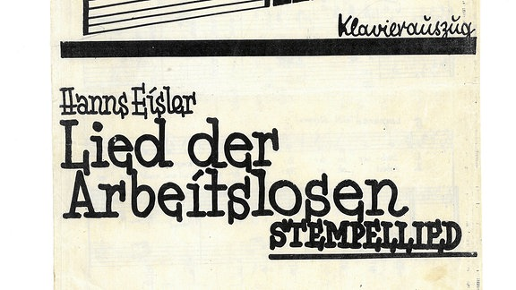 Arbeiterlied - Brecht/Eisler: Stempellied, Titelblatt