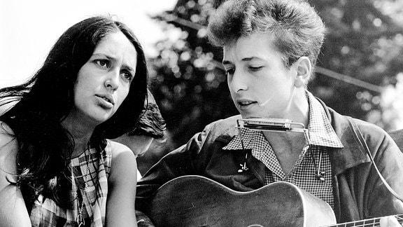 Joan Baez und Bob Dylan 1963