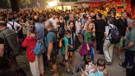 Rudolstadt Festival, Impression: der Heinepark  belebt