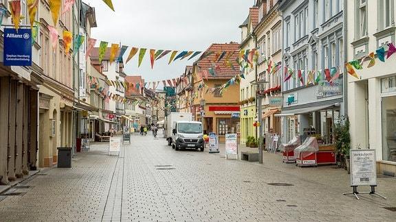 Rudolstadt Festival - Straße in Rudolstadt - ohne Publikum