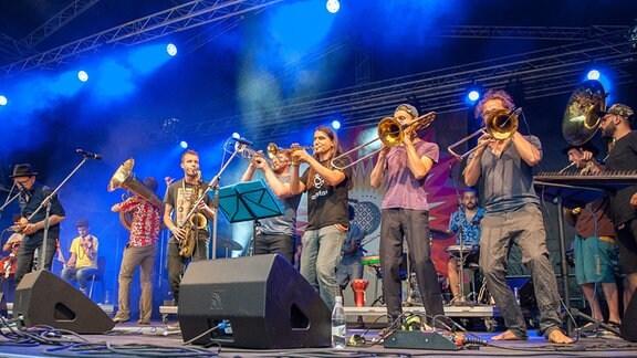 Rudolstadt Festival 2017 - RUTH-Verleihung: Die Dresdner Band Banda Internationale ist RUTH-Preisträger und spielt zur Preisverleihung auf der Heidecksburg.