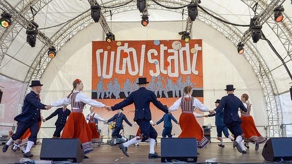 Kuljus (Let) auf der Bühne am Markt beim 28. Rudolstadt Festival 2018