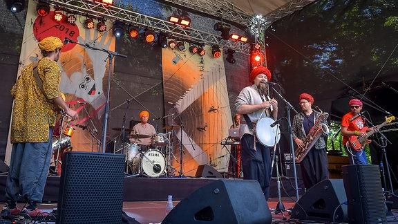 Bombillaz Band Konzertbühne Heinepark