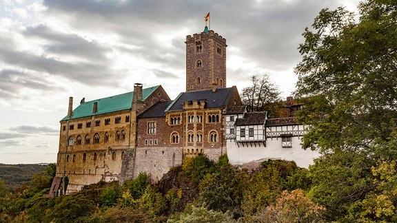 Die Wartburg, über Eisenach im Thüringer Wald