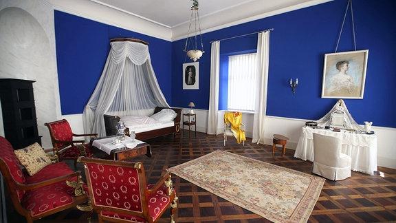 Schlafzimmer der Herzogin.